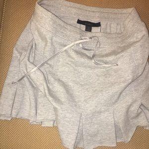 Sweatshirt material pleated mini